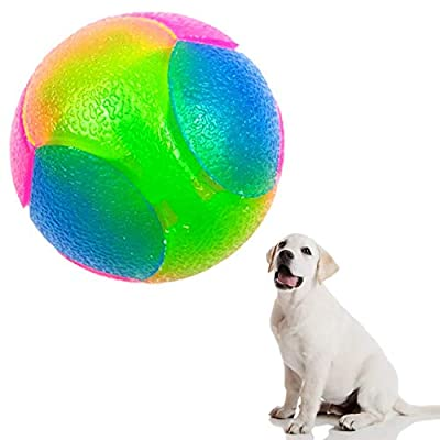 BINGXIAN Rubber Balls for Dogs,Toy Balls for Dogs,Durable Light Jumping Flashing Dog Balls