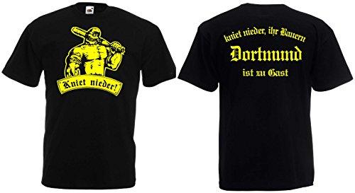 world-of-shirt Herren T-Shirt Dortmund Ultras kniet nieder Ihr Bauern BB