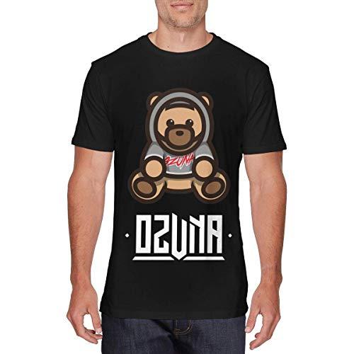 Yobesti Camisas y Camisetas atléticas Top y Blusa, Mens Particular Ozuna Bear Tshirt Black