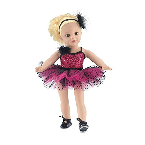 Emily Rose 18 Inch Doll Clothes for My Life Dolls   Doll Jazz Ballet 4 Piece Outfit, Includes Realistic Doll Tap Shoes   Fits 18 American Girl Dolls