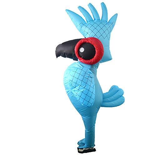 LTSWEET Aufblasbare Papagei Kostüme Erwachsene Fasching Karneval Cosplay Weihnachten Halloween Party Verkleiden Sich Outfit Inflatable Costume Junggesellenabschied,Blau