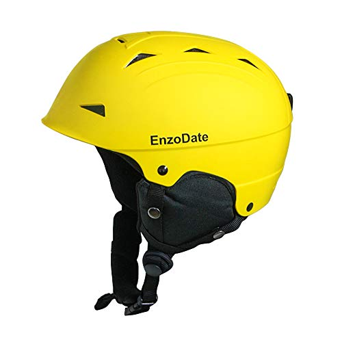 EnzoDate Ski Schneehelm Leichter Wintersport-Snowboardhelm für Herren Damen mit abnehmbaren Ohrenschützern