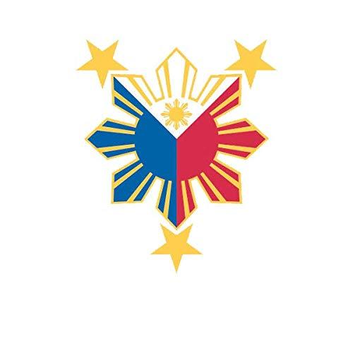 ION Graphics Filipino Pride Star Sun Sticker Die Cut Decal Vinyl Philippines 5' Bumper Locker Laptop Window - Sticks to Any Surface