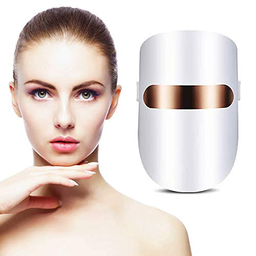 Masque led visage luminotherapie anti acné pour...