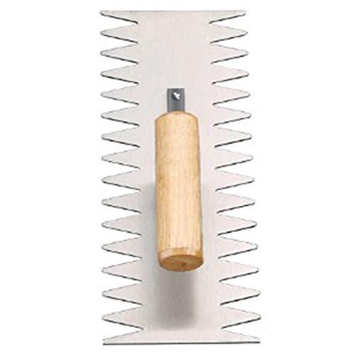 Outil de tuile de lame en acier de finition de truelle de poignée de plâtre de crémaillère en bois de qualité supérieure (12 po)