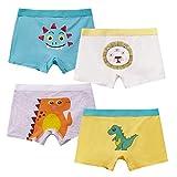 MiSense Boxer Bambino Mutande Bimbo Mutandine Bambini Slip Ragazzo 2-11 Anni,Confezione da 4(8-9 Anni,F015XL)