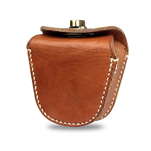 Kosibate Ammo Pouch, Genuine Leather Ammo Bag for .22 22lr .38 .45 Hunting Vintage Belt Gun Ammo Carrier Pouch (Bronze) …