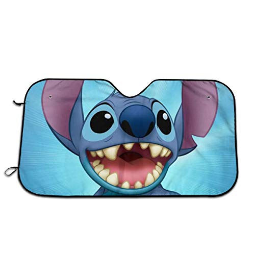 TimBeve Lilo & Stitch Car Windshield Sun Shade - Blocks UV Rays Sun Visor to Keep Your Vehicle Cool and Damage Avoid - 51 X 27.5 Inches