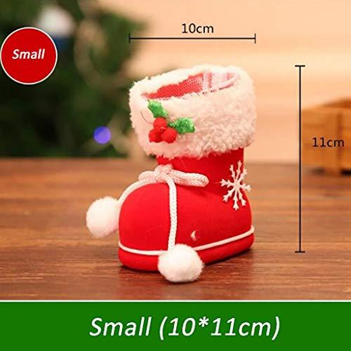 Weihnachtssüßigkeitstasche rote Stiefel Schuhe * 6cm Hauptdekorationen Weihnachtsbaumdekorationen Anhänger Geschenk Strumpf Dekoration Snack Stifthalter Tasche 6cm (Size : B)