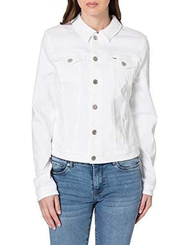 Tommy Jeans Vivianne Slim Denim Trucker SWS Chaqueta de jean, Sandy Wh Str, L para Mujer