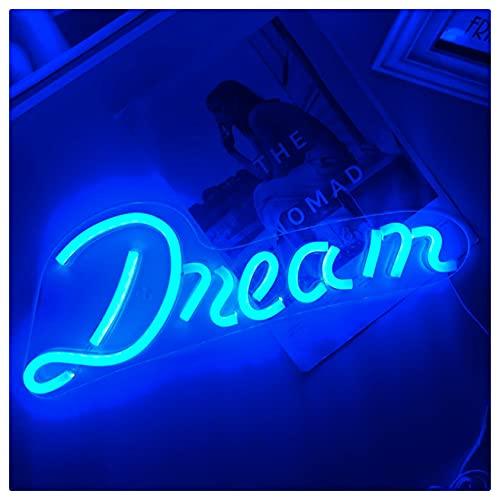 YEHEI Dream Neon Signs, LED Neon Wall Art Colgando para Barra Bar Pub Pub Party Decor, B
