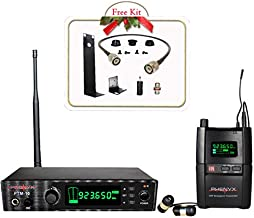 Phenyx Pro UHF Stereo Wireless in Ear Audio Monitor System, Selectable Frequency 900MHz Band, Rack Mountable, 160 ft. Operation, Ideal for Stage, Studio, Exhibit, Lecture, Speech (PTM-10)