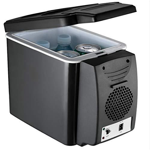 Zlinin Nevera para el coche, 6 l, mini enfriador de coche, calentador 2 en 1, multifunción, 12 V, nevera portátil eléctrica Icebox, congelador, color nombre 12 V