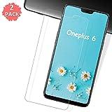 HCHYU OnePlus 6 Panzerglas [2 Stück], OnePlus 6 Schutzfolie [9H Festigkeit][Anti-Kratzer][HD-Transparenz][Anti-Bläschenm] Bildschirmschutzfolie für OnePlus 6