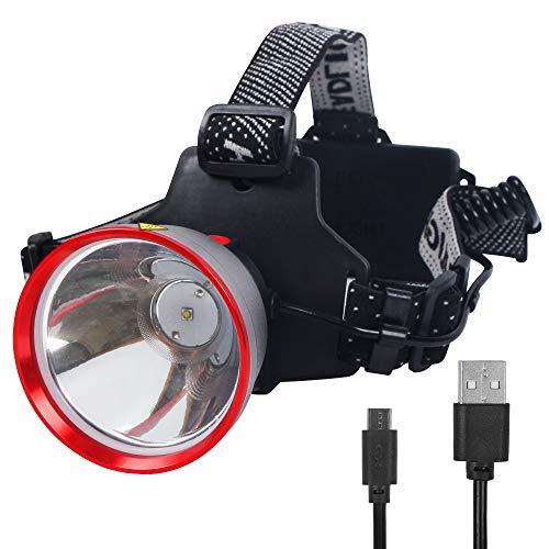 FISHNU Linterna Frontal Inteligente Recargable, proyector LED Lumius-T20, Linterna Frontal con Copa de lámpara de aleación de Aluminio de aviación (11 vatios)
