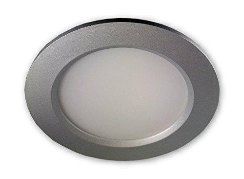 LED Einbaustrahler dimmbar (Silber) 10W 230V IP44 Badstrahler - 3 Lichtfarben per Schalter einstellbar warm/kalt/neutralweiss auch für überdachte Aussenbeleuchtung geeignet