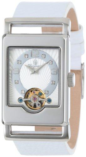 Burgmeister Armbanduhr für Damen mit Analog Anzeige, Automatik-Uhr und Lederarmband - Wasserdichte Damenuhr mit zeitlosem, schickem Design - klassische, elegante Uhr für Frauen - BM510-186 Delft