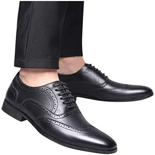 Skxinn Sonderverkauf Mode Luxus Mode Männer Business Leder Schuhe Casual Spitzschuh Männlichen Anzug Schuhe Die Freisetzung von Charme Charakteristisch Geschenk Gr 38-48 Größe(Schwarz,41 EU)
