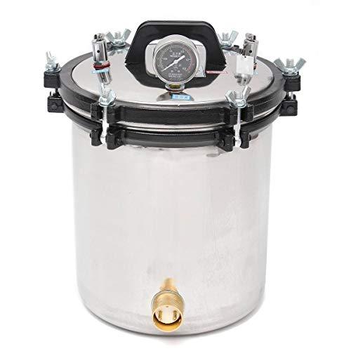 Huanyu 18L Autoklaven-Sterilisator für Hochdrucksterilisierung, Dampfheizung für Laborgebrauch, 0,145-0,165 MPa, Edelstahl