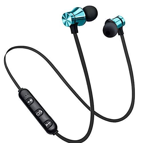 TinaDeer XT11 Wireless Bluetooth Kopfhörer Sport Stereo Ohrhörer Magnetic Wireless Kopfhörer In-Ear-Ohrhörer Sport Headset mit Mikrofon, für Smartphones (Blau)