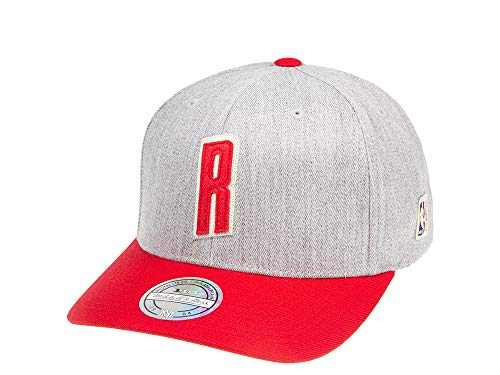 Mitchell & Ness Hometown 110 Bucks Cap Flexfit-Cap Basecap Cappellino NBA Snapback Milwaukee Houston Rockets - Scarpe da ginnastica, colore: Grigio melange / Rosso Taglia unica
