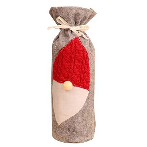 Funda para botella de vino de Navidad, reutilizable, tela no tejida, muñeca sin rostro, creativa, funda para botella de champán, bolsas de vino, regalo para fiesta de Navidad