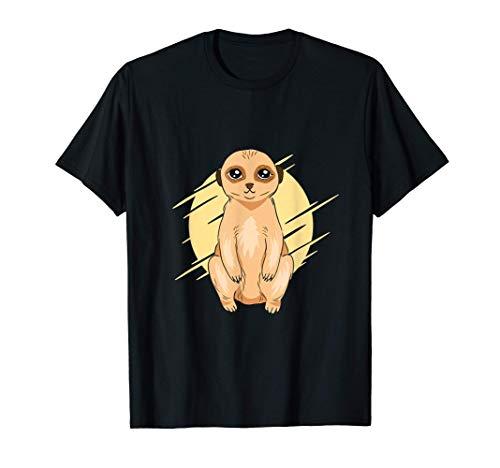 Lindo diseño animal con una ilustración de un suricato bebé Camiseta