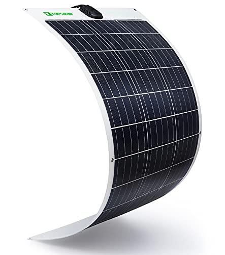 100W 12V Paneles Solares flexibles Solar Panel Module Flexible monocristalino fotovoltaico PV Solar Célula Solar Ideal Para Cargar de 12 Volt de Baterías
