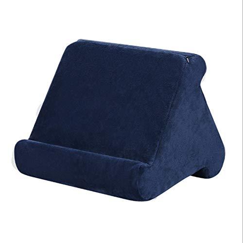 QAVILFLY Soporte de almohada para tableta, almohadilla suave para regazo, con nuevo cubo de almacenamiento multi-ángulo suave soporte de vuelta, para lector electrónico, varios colores, 1 pieza (D)