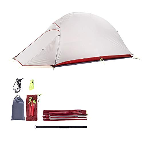 JIN GUI Campingzelt 2 leichtes Rucksackzelt, wasserdichtes Zelt, Überdachungszelt, zweilagiges Design, geeignet für Outdoor-, Wander- und Wanderzelte