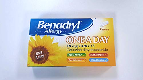 Benadryl One a Day Relief Cetrizine - 7 Tablets