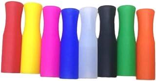 Milisten - Juego de 8 pajitas reutilizables de silicona para pajitas multicolores de grado alimenticio, para pajitas de acero inoxidable