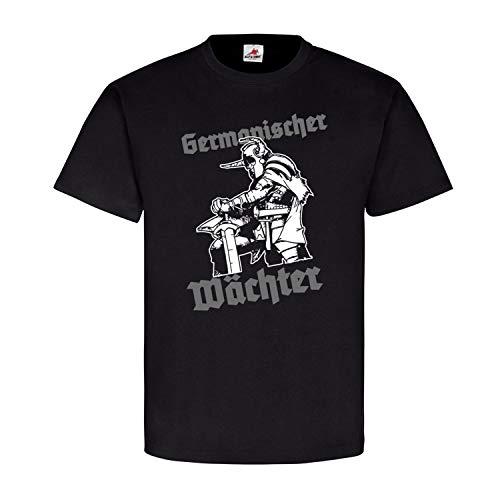 Germanischer Wächter Germanen Wikinger nordische Mythologie T Shirt #16029, Farbe:Schwarz, Größe:M