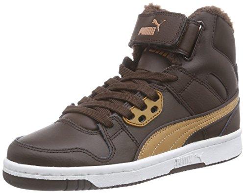 Puma Puma Rebound Street Fur, Unisex-Erwachsene Hohe Sneakers, Schwarz (black-steel gray 02), 41 EU (7.5 Erwachsene UK)