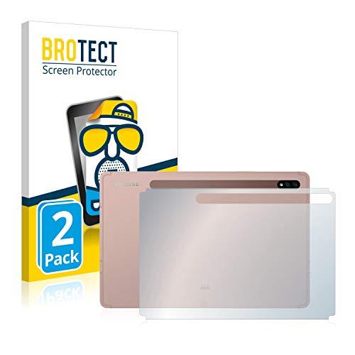 BROTECT 2X Entspiegelungs-Schutzfolie kompatibel mit Samsung Galaxy Tab S7 Plus 5G 2020 (Rückseite) Matt, Anti-Reflex, Anti-Fingerprint