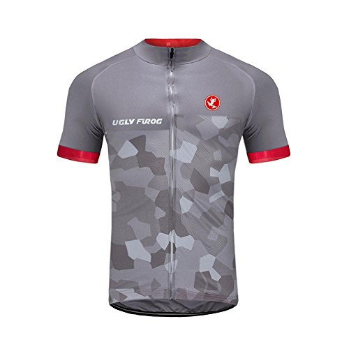 Uglyfrog Camisetas de Ciclismo para Hombre, Camiseta Corta, Top de Ciclismo, Jerseys de Ciclismo, Ropa de Ciclismo, Mountain Bike/MTB Shirt, Transpirable y Que Absorbe El Sudor, Secado Rápido