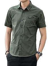 夏服 メンズ シャツ 半袖 吸汗速乾 汗染み防止 カジュアル シンプル オシャレ 快適 軽い 柔らかい かっこいい 白シャツ