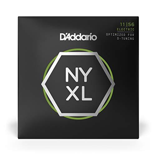D'Addario NYXL1156 Cuerdas para Guitarra Eléctrica Nickel Wound, Superiores Medium / Inferiores Ext