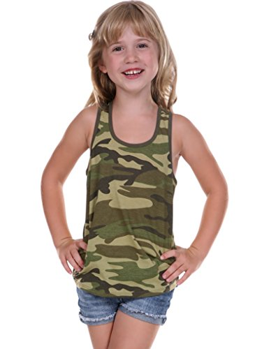 Kavio! Little Girls 3-6X Camouflage Racer Back Tank Camo Army Green 3