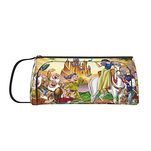 Estuche para lápices de princesas de Disney, gran capacidad, con doble cremallera, bolsa de oficina, papelería, bolsa de cosméticos con compartimentos para niñas, niños y adultos