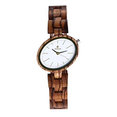 Orologio da uomo Zxy Reloj de Madera, Explosión Sándalo Rojo Pure Natural Bambú y Madera Original Salud y protección del Medio Ambiente, DYF (Color : Zebra)