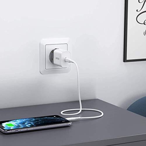 USB C Ladegerät ,CHOETECH USB C Netzteil 20W,iphone Ladegerät ,Schnellladegerät,Fast Charger PD&QC3.0 Type C für iPhone 12/Mini/Pro Max,SE 2020 11 XS Max XR X 8 iPad Pro Air Pods Pro,Galaxy S20/S10