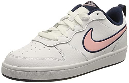 Nike Court Borough Low 2 Se1 (GS), Zapatos, White/Pink Glaze-Midnight Navy, 37.5 EU