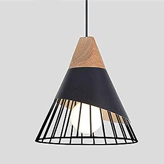 Rétro Metal Suspension Noir Cage E27 Suspension Industrielle Lampe Vintage Pendante Lumière Vintage en Métal Eclairage de ...