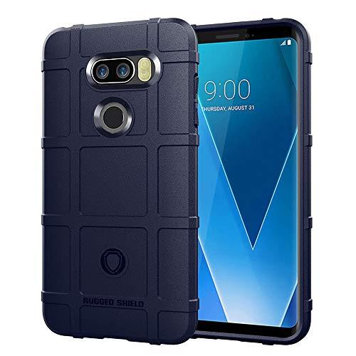 Capa traseira de gel de sílica ultrafina à prova de choque para LG V30+ (Azul)