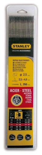 Stanley 460825 Electrode acier Diamètre 2,5 mm 50 pièces