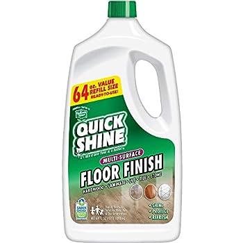 Quick Shine Multi-Surface Floor Finish 64 Ounce White 64 Fl Oz