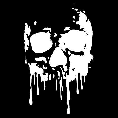 EROSPA® Aufkleber/Sticker KFZ Auto Motorrad - Skelett Knochen Schädel Kopf - Car-Sticker (Schwarz)