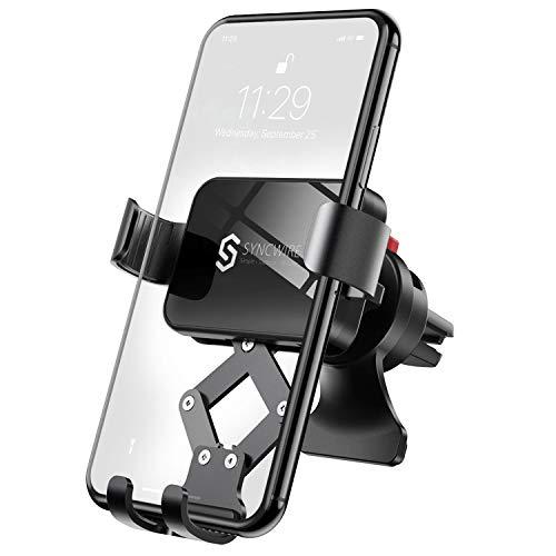 Syncwire Soporte Movil Coche Gravedad, Universal 360 Grados Rotación Porta Movil Coche para Rejilla del Aire de Coche Compatible con iPhone 11 Pro Max XS XR X 8 7 6 Plus Xiaomi Note8 Huawei Samsung