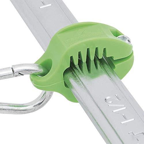 Peakworks V8561601 - Sistema de anclaje para herramientas industriales y de construcción, pinzas de anclaje para herramientas con cierres, reutilizables (llaves, martillos, alicates, destornilladores, etc.), Verde, Paquete de 1